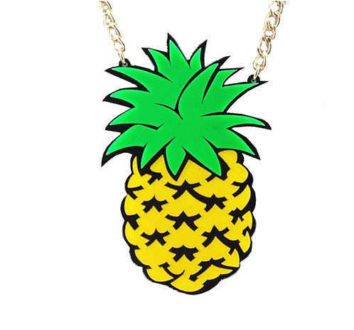Pineapple Laser Cut Necklace