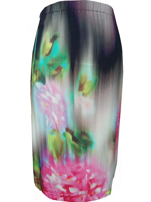 Floral Viscose Skirt