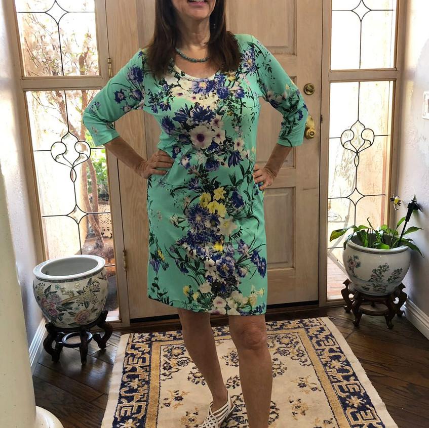 שמלת בילי פרחונית מנטה