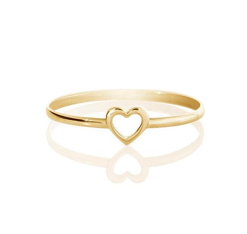 טבעת לב מזהב 14 קראט