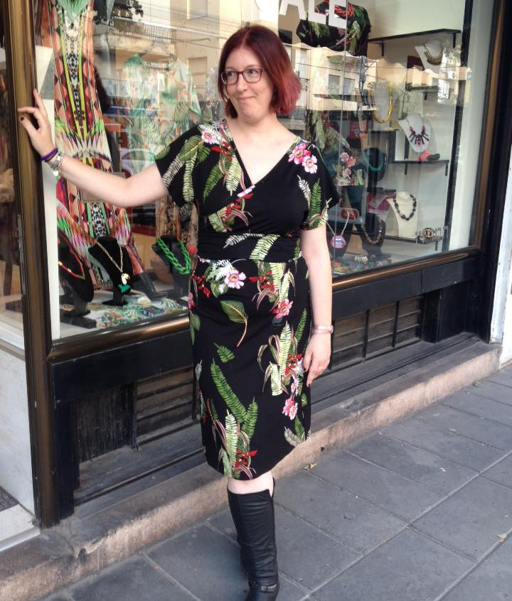 שמלת קימונו פרחונית