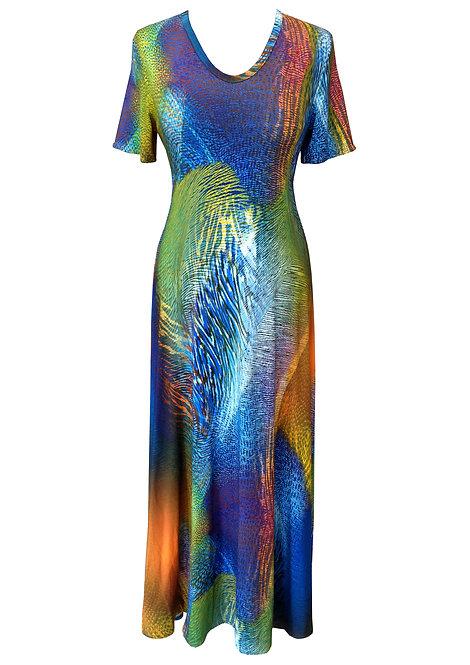 שמלת מקסי מתרחבת אפריקנה