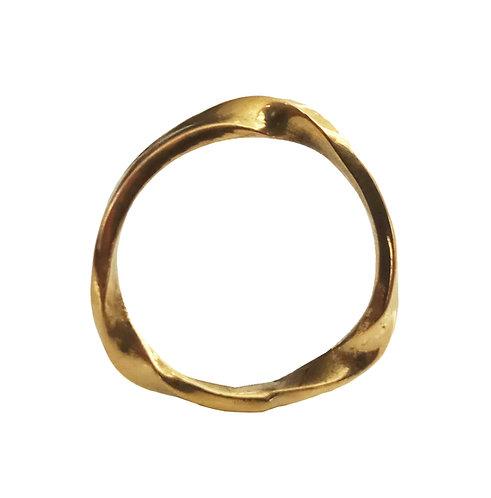 14K Gold Twisted Wedding Ring