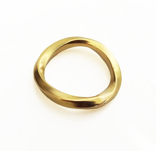 14K Gold Thick Twisted Wedding Ring