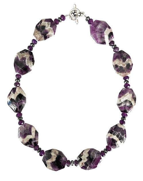 Large Amethyst Stones Necklace