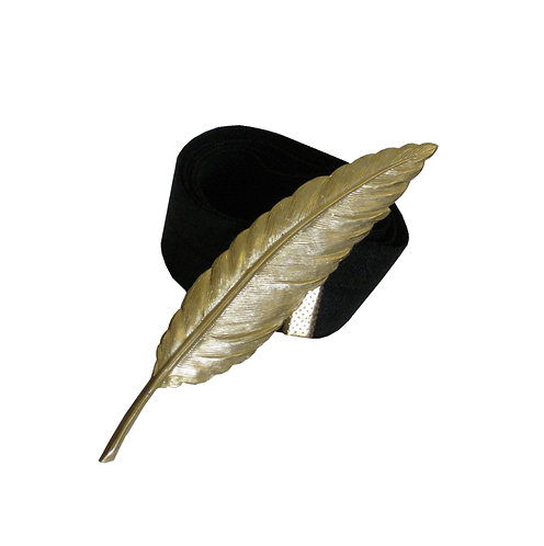 Gold feather belt