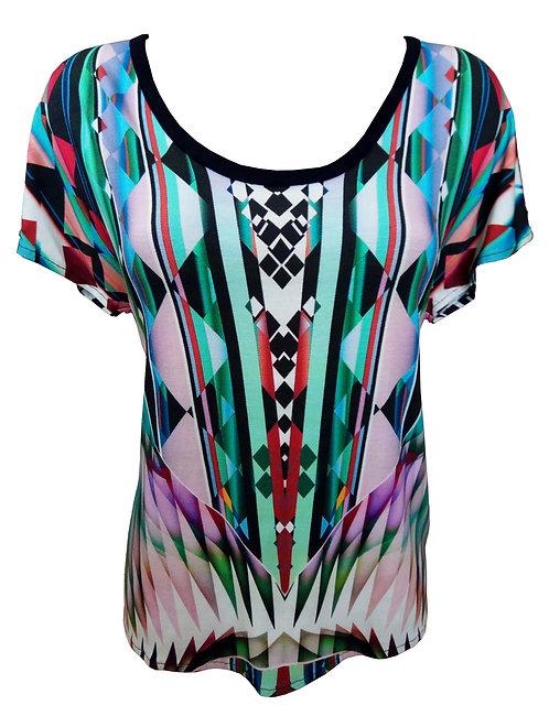 חולצת טי-שירט גיאומטרית