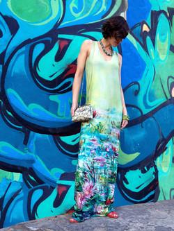 שמלת מקסי חבצלות מים