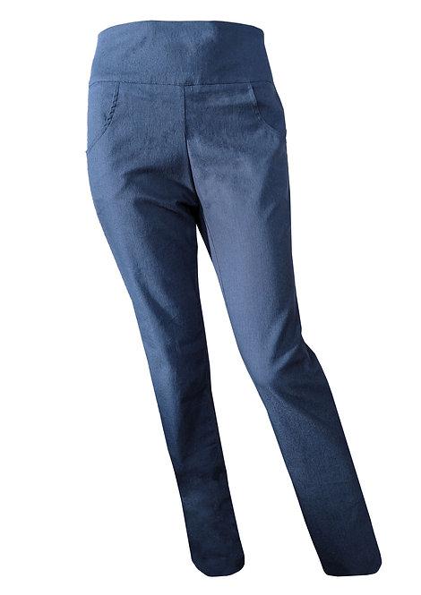 מכנסי ג'ינס מחוייט - רוכסן בצד