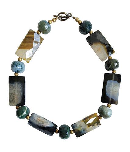 Mix Agate Stones Necklace