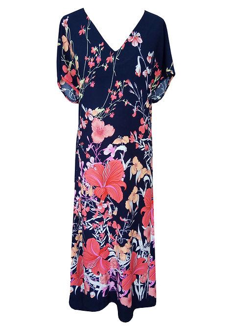 שמלת גלבייה פרחונית