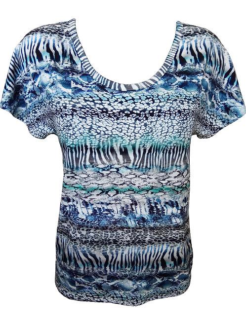 Light Blue Zebra Striped Shirt