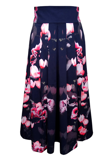 Floral Pleated Skirt - Cyclamen