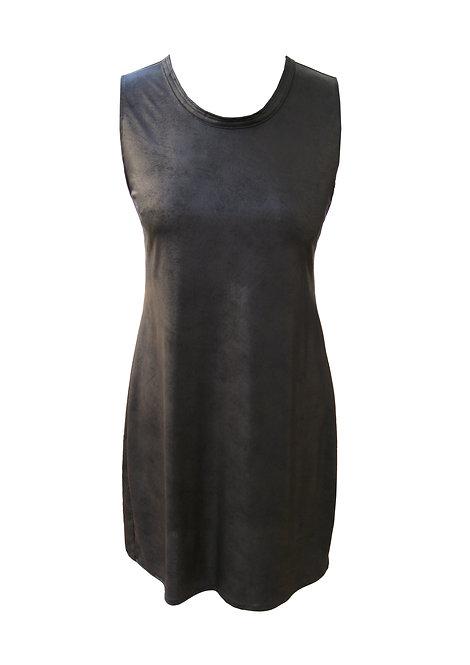 שמלת דמוי עור שחורה