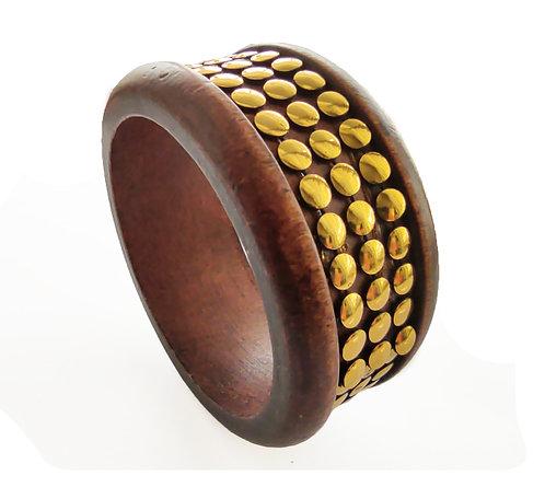 Brown Wooden Bracelet