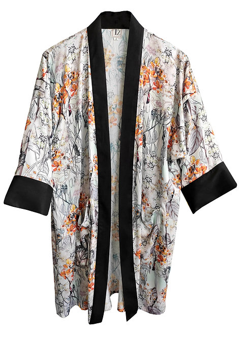Orange Flowers Kimono