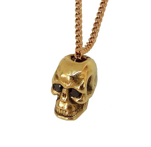 14K Gold Skull Necklace