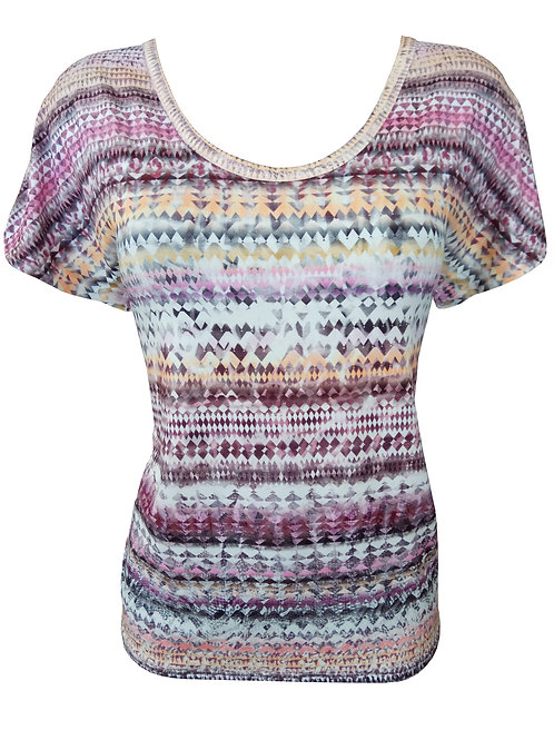 Geometric Striped Shirt