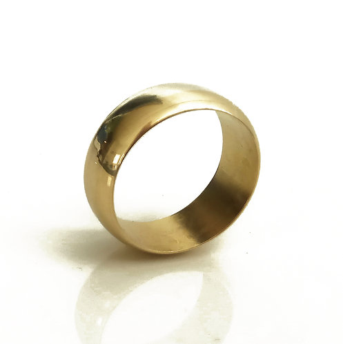 14K Gold Engrave Thick Wedding Ring