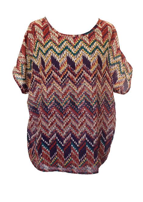 Ethnic Oversized Cotton Shirt