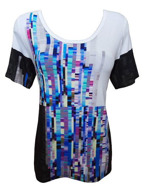 חולצת טי-שירט גיאומטרית פיקסלים