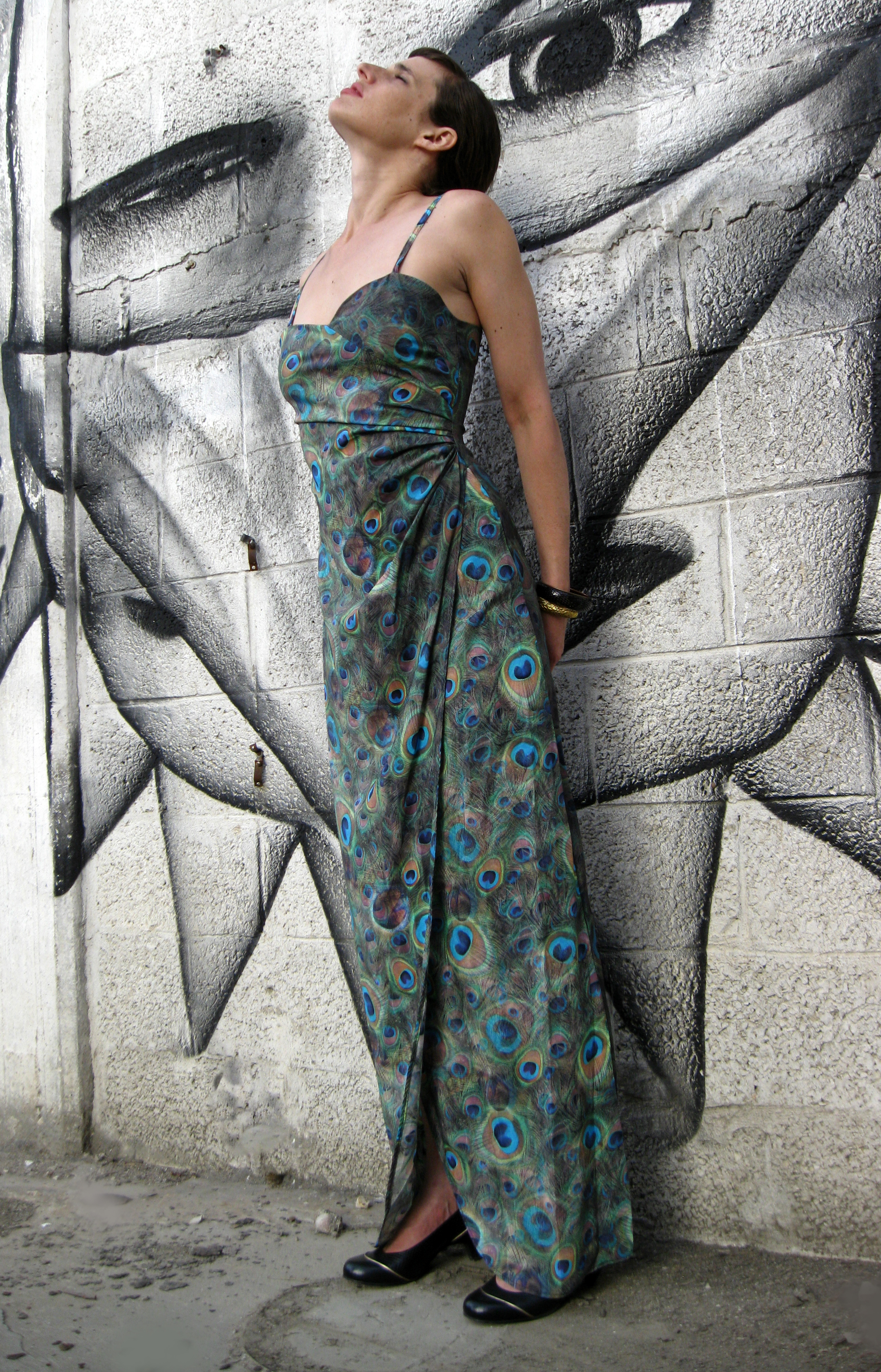 שמלת מקסי טווס