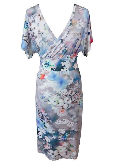 Floral Kimono Dress - Cherry Blossom