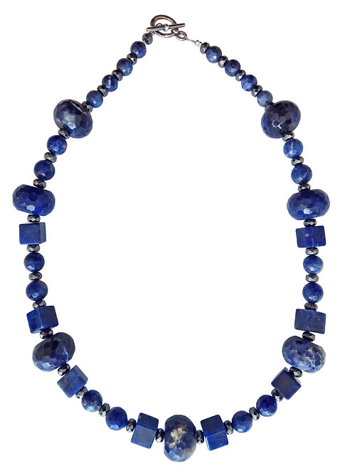 Blue Sodalite Stones Necklace