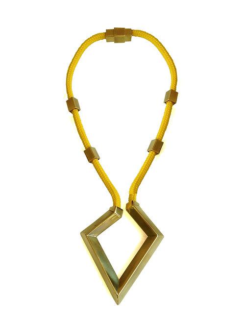 שרשרת חבל צהובה יהלום