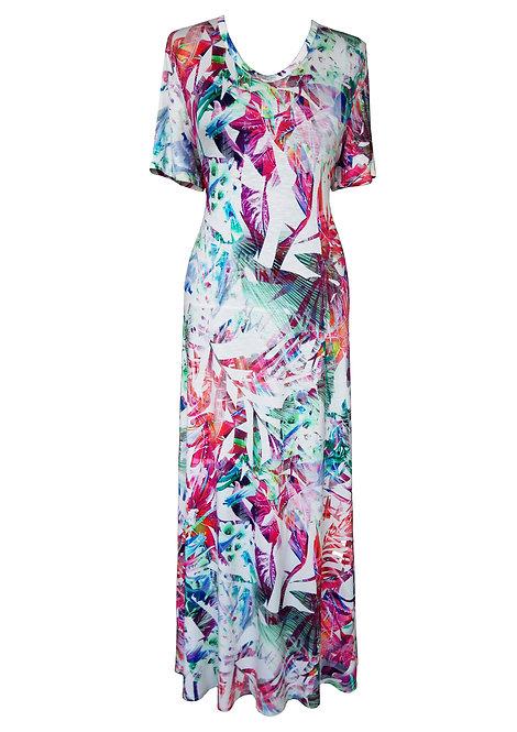 Colorful Maxi A-line Dress