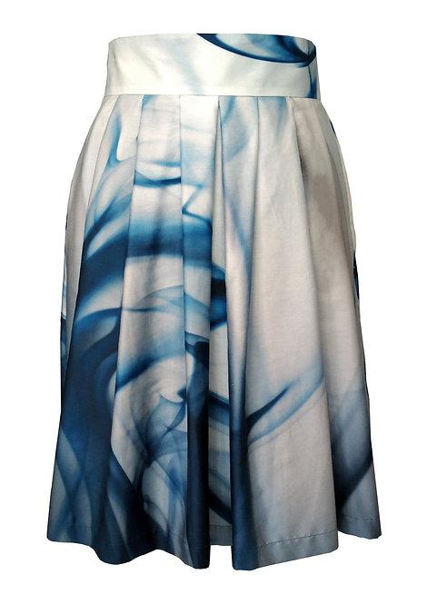 Aqua Pleated Skirt