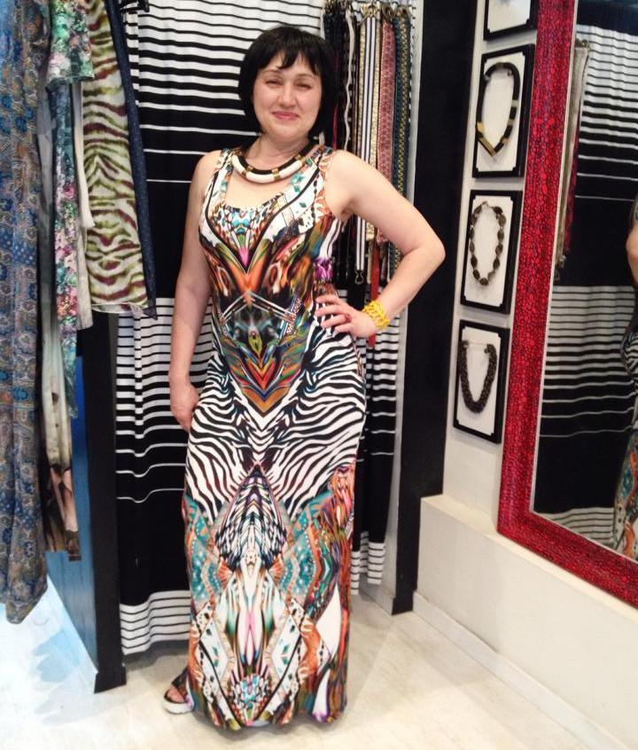 שמלת מקסי הונולולו