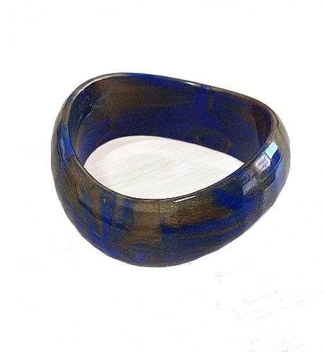 צמיד פלסטיק כחול