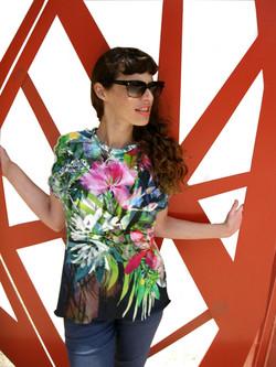 חולצת מרינה פרחונית