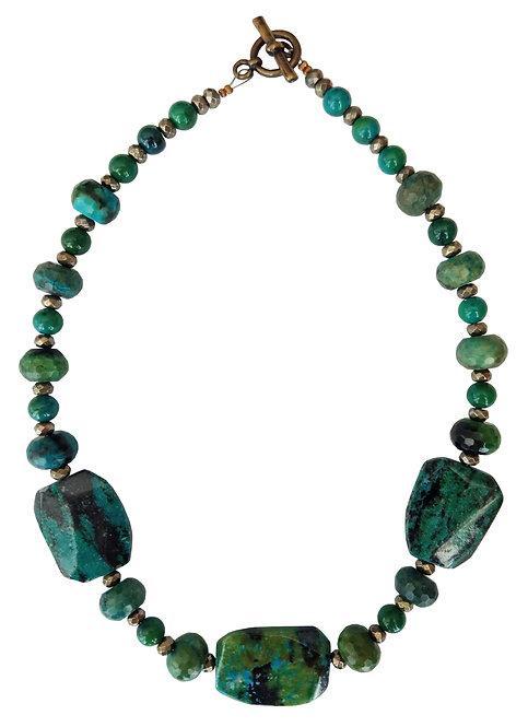 Chrysocolla Stones Necklace