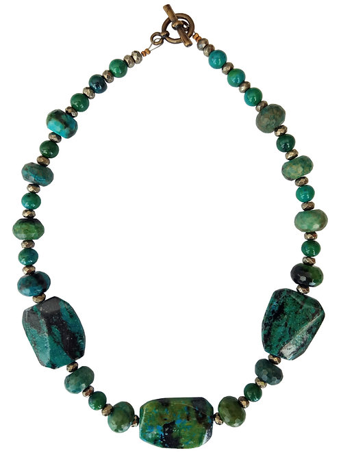 Chrysocolla Stones Necklace