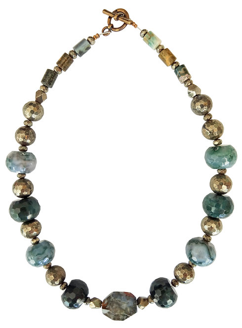 Mix Agate Stones Necklace