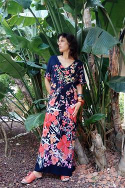 שמלת גלביה פרחונית