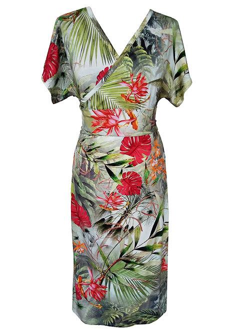 שמלת קימונו טרופיקנה