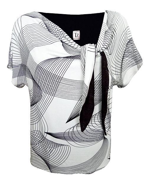 חולצת קשר בשחור-לבן