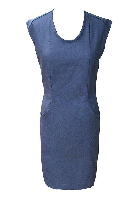 Open Back Denim Dress