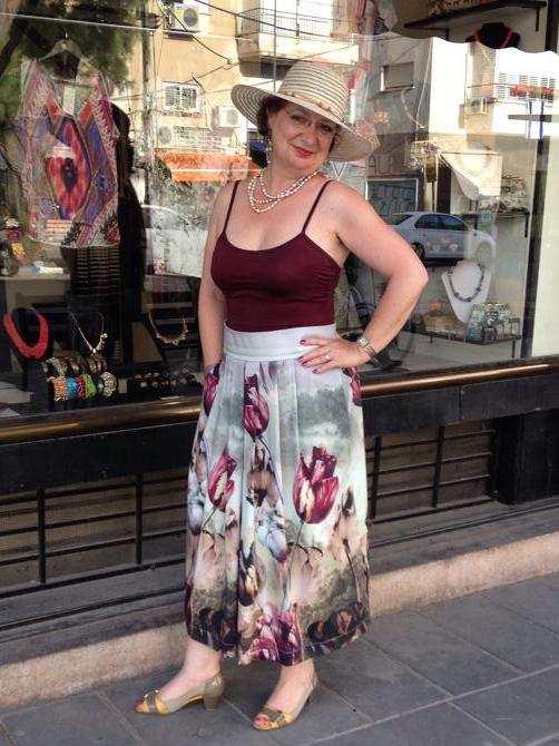 חצאית מקסי טוליפים