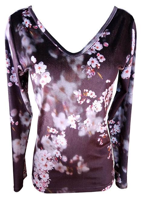 Floral Velvet Shirt