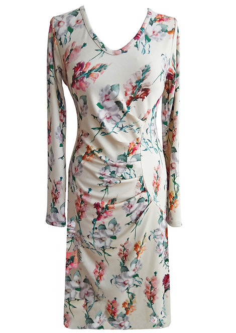 Floral Asymetric Dress