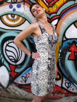 שמלת מיני מודפסת