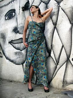 שמלת טווס מקסי