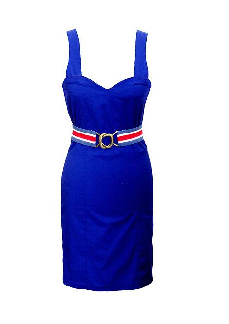 שמלת גלים כחולה