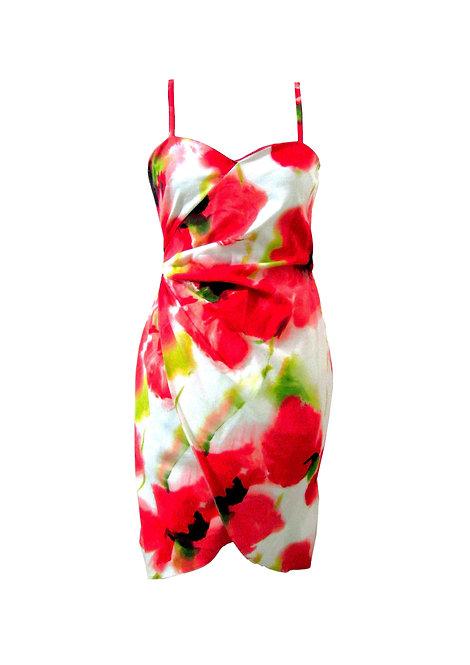שמלת מעטפה מיני פרחונית