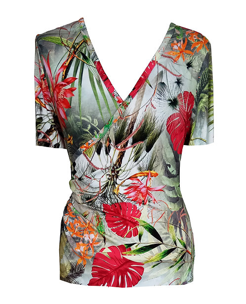 Tropical Wrap Shirt