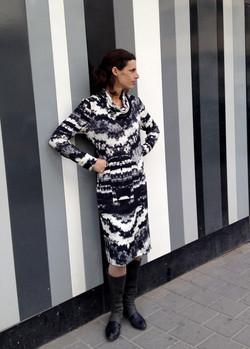B&W Winter Dress שמלת חורף שחור-לבן